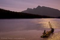 LAKE MINNIWANKA, Banff National Park, Alberta, Canada photo