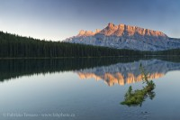 LAKE MINNEWANKA,Banff National Park, Alberta Canada photo