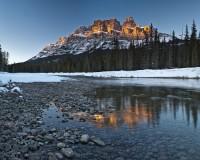 CASTLE MOUNTAIN, BOW RIVER, Banff National Park  photo