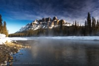 Castle Mountain, Banff National Park, Alberta,Canada photo