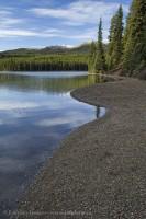 MALIGNE LAKE in November, Jasper National Park, Alberta, Canada photo