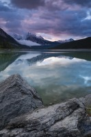 MEDICINE LAKE in July, Jasper National Park, Alberta, Canada photo