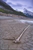 Jasper National Park, Alberta, Canada, MEDICINE LAKE in November photo