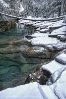 Jasper National Park, Alberta, Canada, Maligne River, HDR Image photo