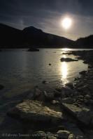 SUN SETTING on MEDICINE LAKE