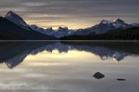 MALIGNE LAKE Jasper, National Park, Alberta, Canada photo