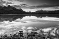 MALIGNE LAKE, Jasper National Park, Alberta, Canada photo