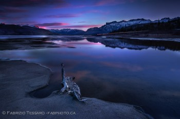 Athabasca River,Jasper National Park,Winter photo