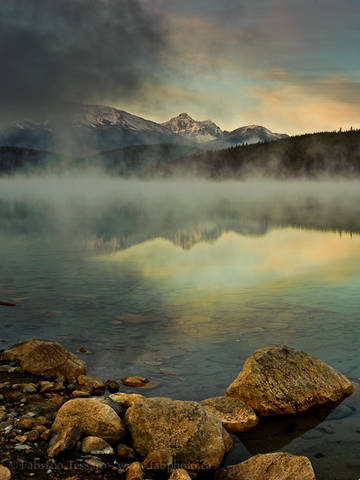PATRICIA LAKE and THE TRIDENT RANGE