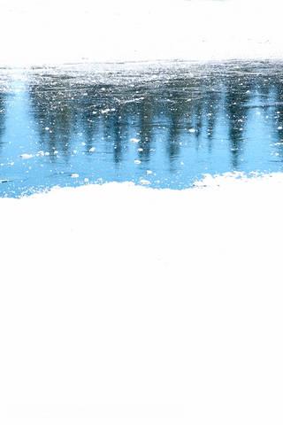 FROZEN RIVER REFLECTIONS