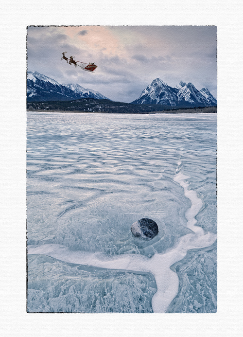 christmas card, greeting card,santa and reindeer christmas card, photo