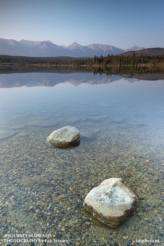 patricia lake,  pyramid island,Jasper National Park, Alberta photo