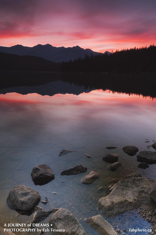 Pyramid Lake,Jasper National Park, Alberta photo