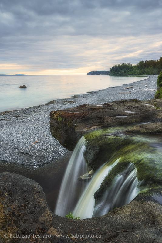 Sandcut Falls, Vancouver Island,Sandcut Beach,BC West Coast photo