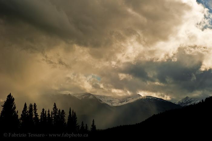 Stom Clouds, Jasper National Park,, photo