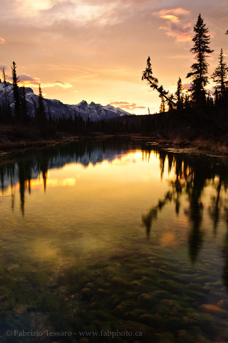 Rocky River, The Glory Hole, Jasper National Park, photo