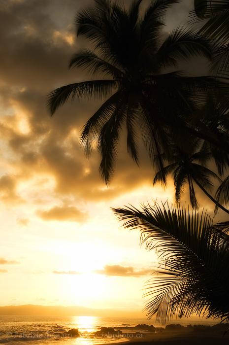 golfito,costa rica, sunset, pacific coast, photo