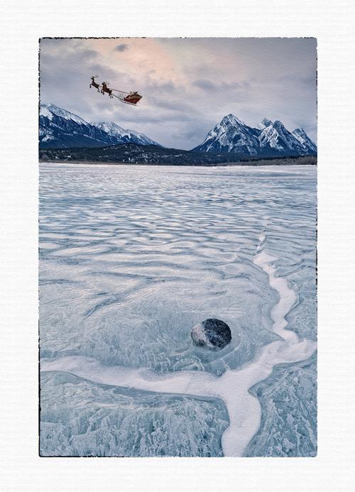 christmas card, greeting card,santa and reindeer christmas card,, photo