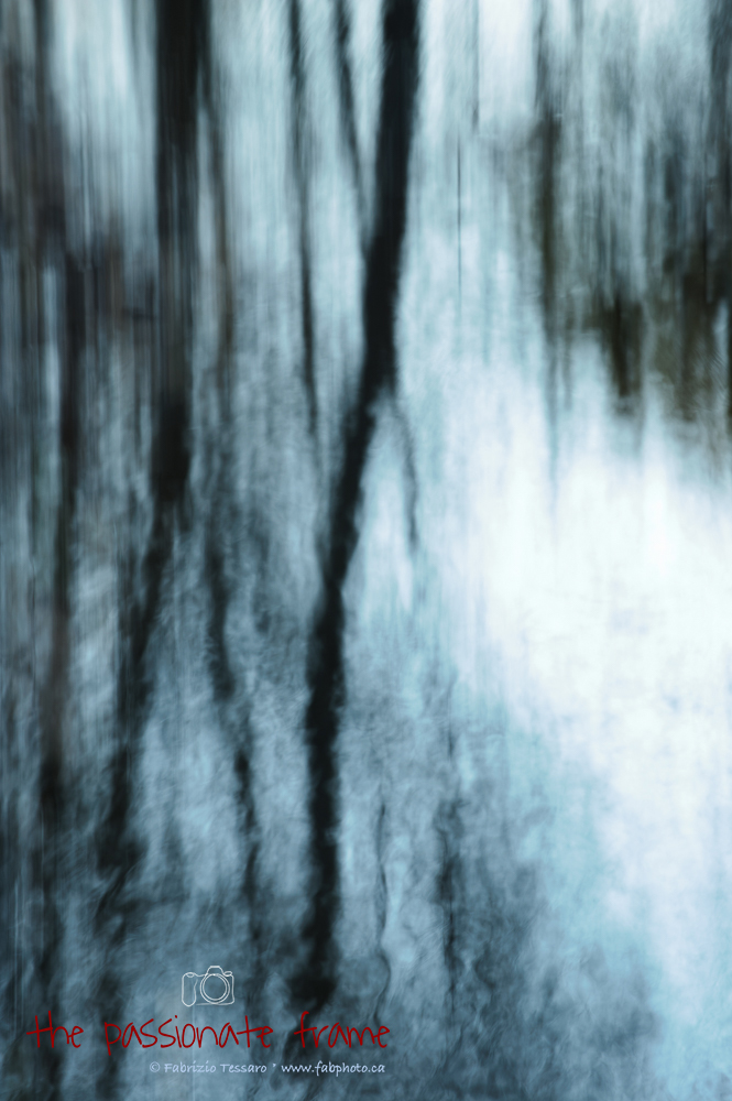 mill creek,edmonton,reflections,intentional camera movement,photograph,abstract, photo