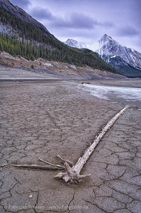 Jasper National Park, Alberta, Canada, MEDICINE LAKE in November, photo