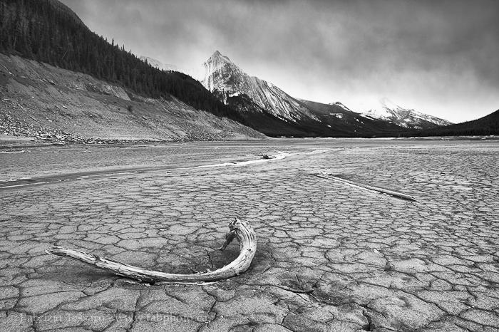 MEDICINE LAKE in November, Jasper National Park, Alberta, Canada, photo