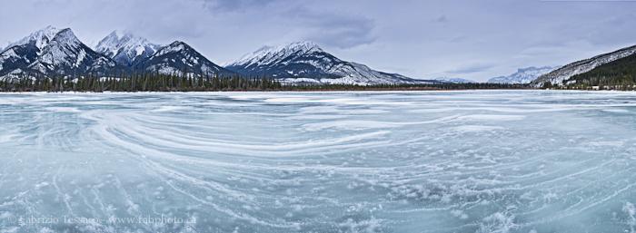 Jasper Lake and The De Smet Range, Jasper National Park, photo