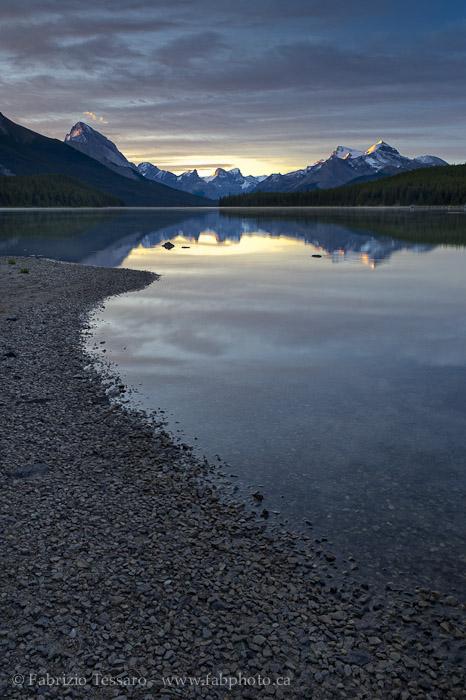 MALIGNE LAKE, Jasper National Park, Alberta, Canada, photo