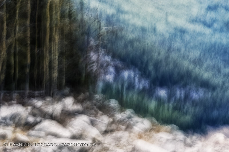 Jasper National Park, Medicine Lake, winter, abstract, impression, photo